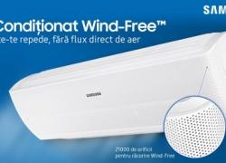 Samsung AR12MSPXBWKNEU cu tehnologia inovativa Wind-Free, Wi-Fi control, 12000BTU, filtrare avansata